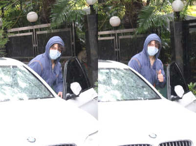 Tiger Shroff snapped at dubbing studio