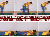 Perfect back workout that you can do in the comfort of your Home