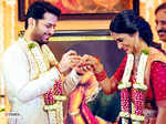 Candid pictures from actor Nithiin and fiance Shalini's engagement celebration