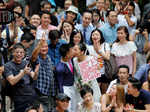 Hong Kong couple charged with rioting, found not guilty