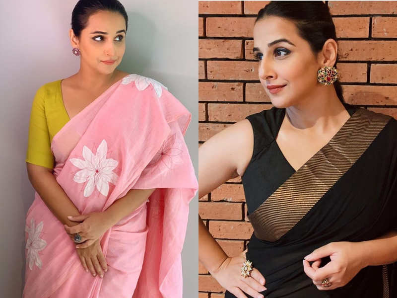 Vidya Balan wore these 10 saris in 10 days and it's a record of sorts!