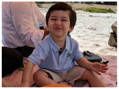 Throwback pic of Taimur on the beach