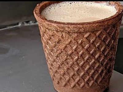 This Madurai tea shop serves tea in edible cups