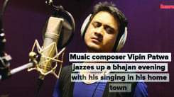 Music composer Vipin Patwa jazzes up a bhajan evening with his singing in his home town