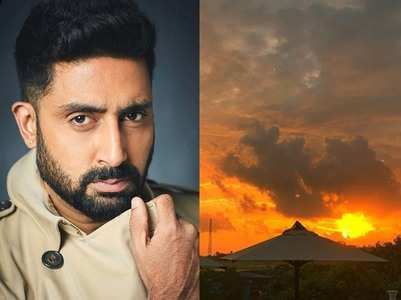 Abhishek posts a sunset pic from the hospital