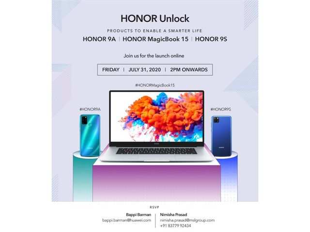 Honor 9A, Honor 9S and Honor MagicBook 15 to launch today at 2pm: How to watch the live stream