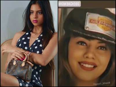 Pics: Suhana Khan opts for a retro look