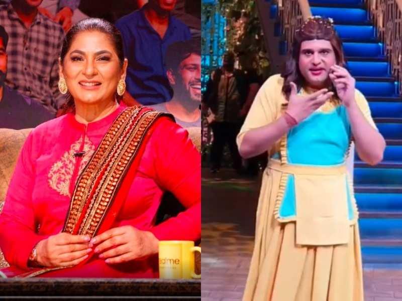 Krushna Abhishek mocks wife Kashmera for having a beard longer than his during lockdown; Archana Puran Singh tells him he'd be beaten up