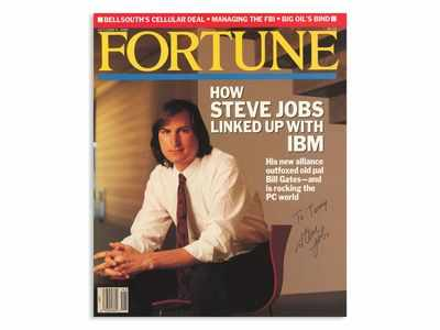 A magazine autographed by Steve Jobs sold for $16,000