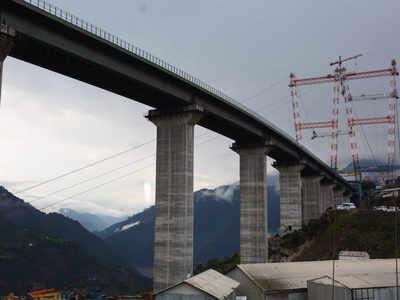 The Chenab railway bridge will be ready for next year |  India News