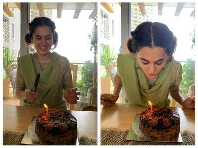 Taapsee gives a glimpse of her B'day at home