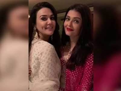 Preity shares a sweet pic with Aishwarya
