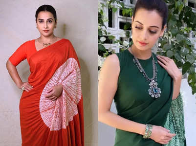 Vidya Balan, Dia Mirza wore a sari with a hole in the pallu!