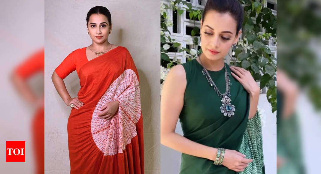 Vidya Balan and Dia Mirza wore a sari with a hole in the pallu! – Times of India