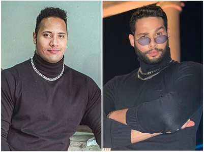 Siddhant recreates Dwayne's 90's look