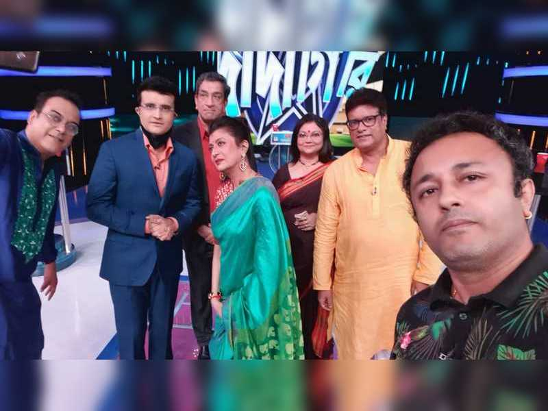 Dadagiri team shoots with Sourav and star guests