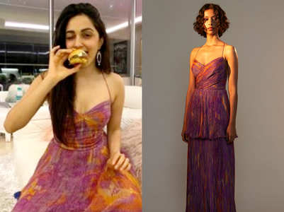 Kiara Advani's printed cross bust dress is the HOTTEST quarantine party outfit