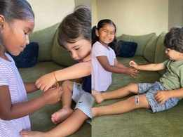 Sunny Leone posts sweet photos from her kids Nisha, Noah and Asher's Raksha Bandhan celebration