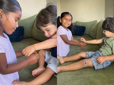 Photos: Sunny Leone's kids celebrate Rakhi