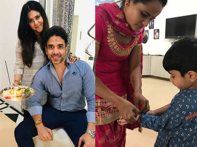 Pic: Tusshar & Ekta Kapoor on Raksha Bandhan