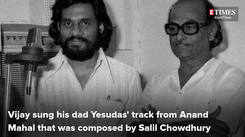 Vijay Yesudas sings his father KJ Yesudas' song from Anand Mahal