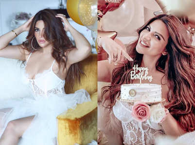 Shama looks stunning in white; see b'day pics