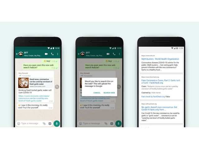 WhatsApp rolls out 'search the web' feature to spot fake messages