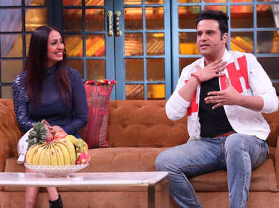 Kashmera makes fun of Krushna's English