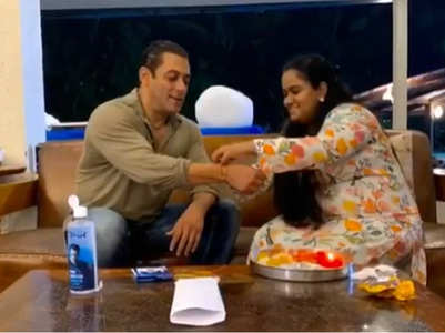 Arpita celebrates Raksha Bandhan with Salman