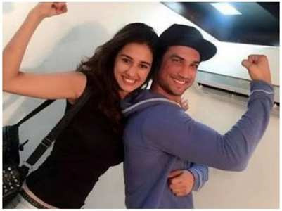 Throwback pic of SSR and his co-star Disha