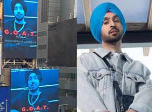 Desi turbanator on Times Square! Diljit Dosanjh's 'G.O.A.T' turns into a global sensation
