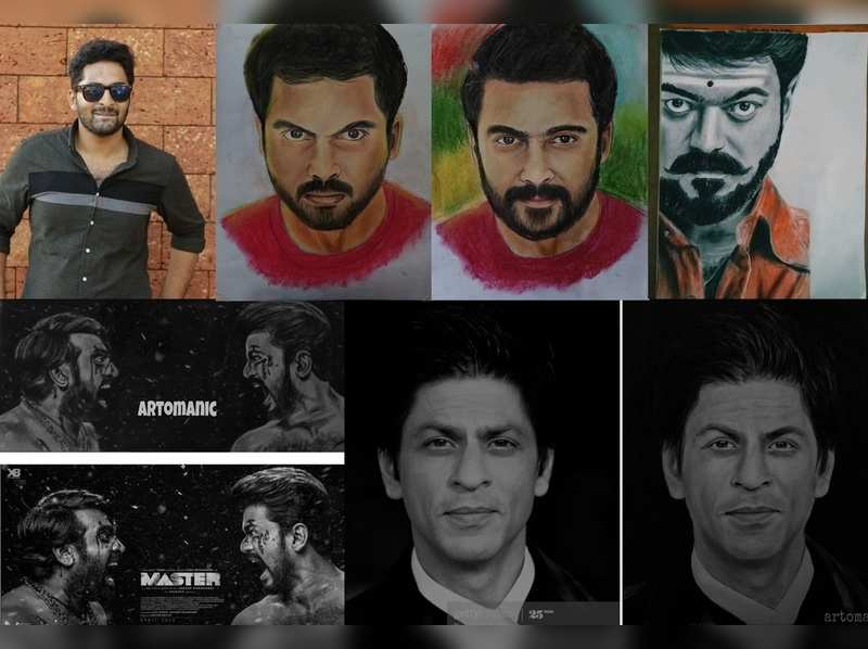 This young artist's portraits of Suriya, Vijay and Karthi are blockbusters on Twitter
