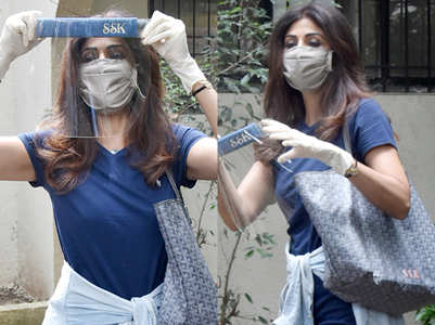 Shilpa Shetty's 'SSK' face shield and expensive bag prove she loves customisation