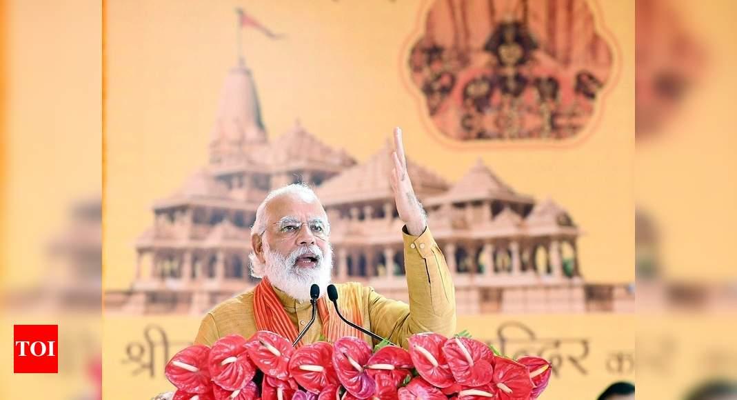 Narendra Modi: At Ram Mandir bhoomi pujan, PM Modi likens mandir ...