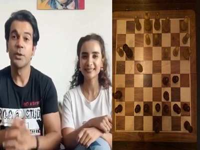 Rajkummar enjoys a game of chess with his GF