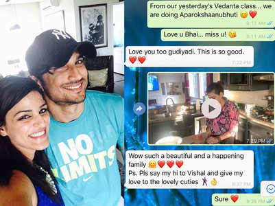 SSR's sister shares her chat with the actor