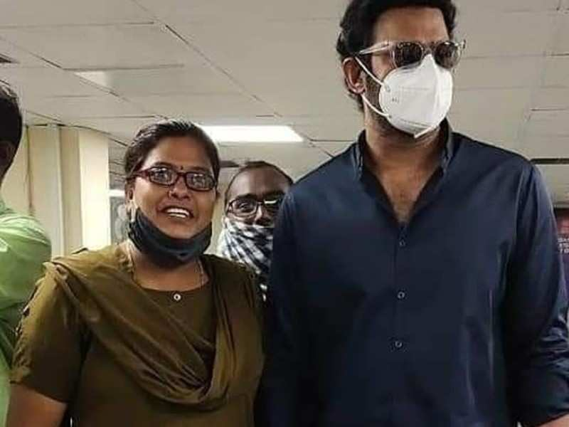 Prabhas spotted in the city, obliging fans with selfies