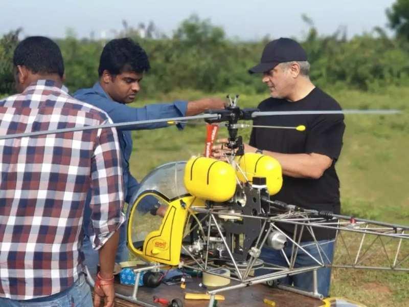 Video of Thala Ajith fixing an aircraft goes viral