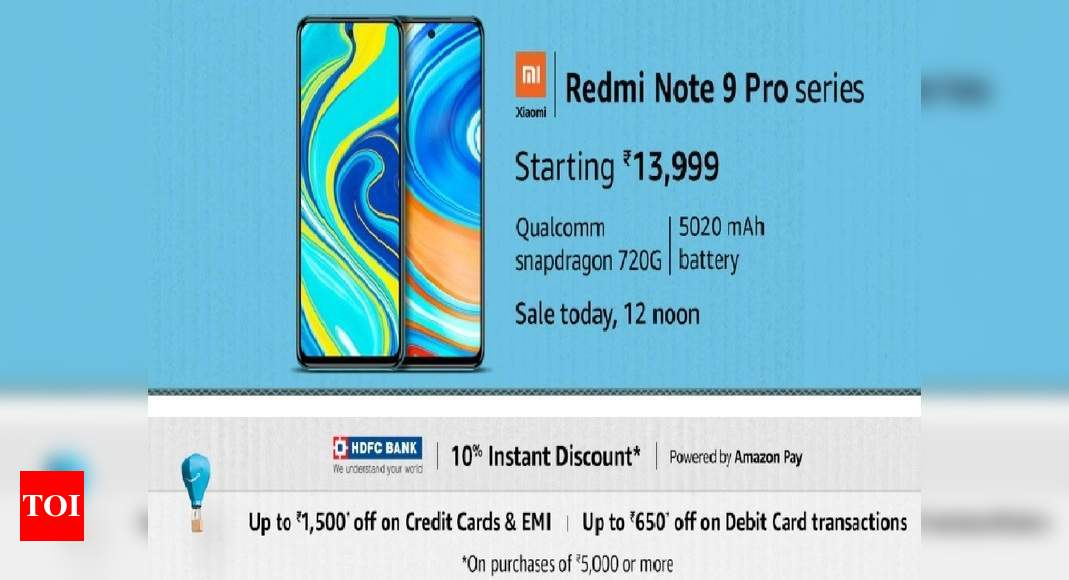 Redmi Note 9 Pro Amazon Sale Redmi Note 9 Pro And Pro Max On Sale Via Amazon Prime Day Price And Specs Here Most Searched Products Times Of India