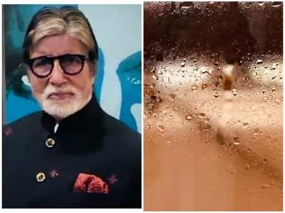 BigB shares a glimpse of Mumbai rains