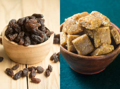 Jaggery and raisins: Add them to your diet to lose weight
