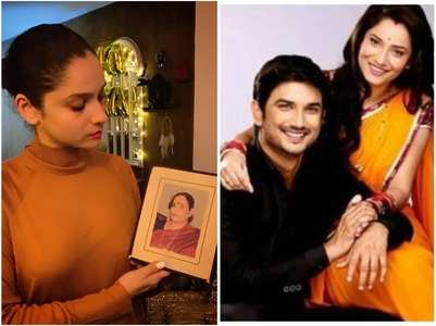 Ankita shares a pic of SSR's mom, his sis reacts