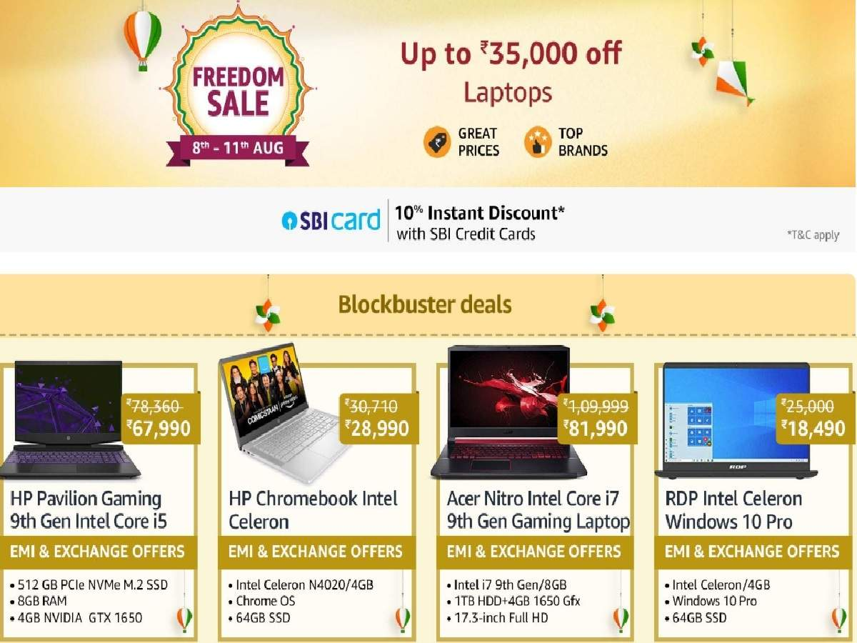 Amazon Laptop Sale Up To Rs 30 000 Off On Macbook Pro Hp Acer And Other Laptops Most Searched Products Times Of India