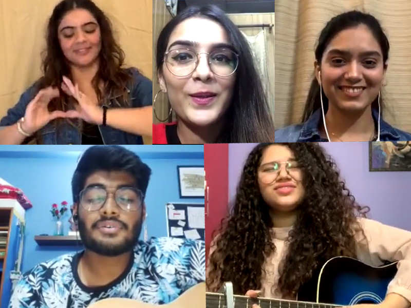 A slice of life at Bennett University presented by the students on an Instagram live session (Clockwise from top left) Deghpreet Kaur Lamba, Malika Sahni, Meher Dhanjal (host), Shubhrali Ben, Mehal Srivastava