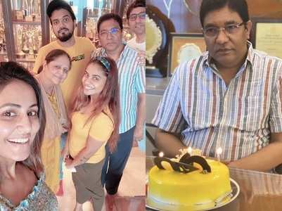 Hina Khan celebrates her dad's birthday