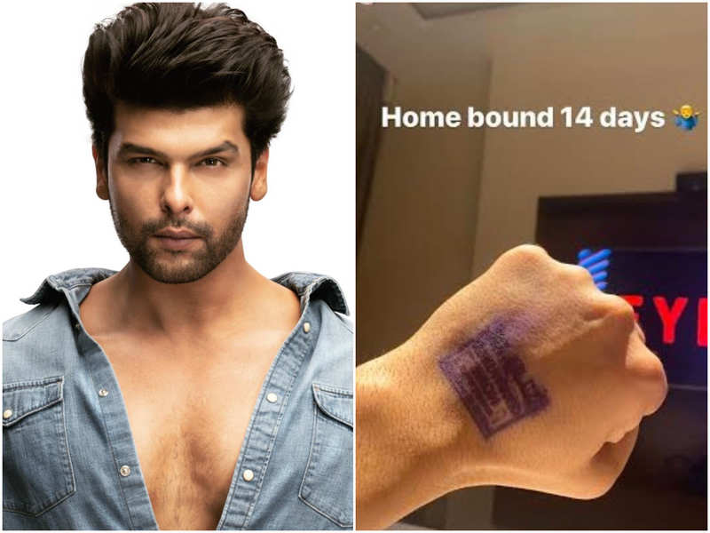 Kushal Tandon quarantined for 14 days; shares story of stamped hand on Instagram