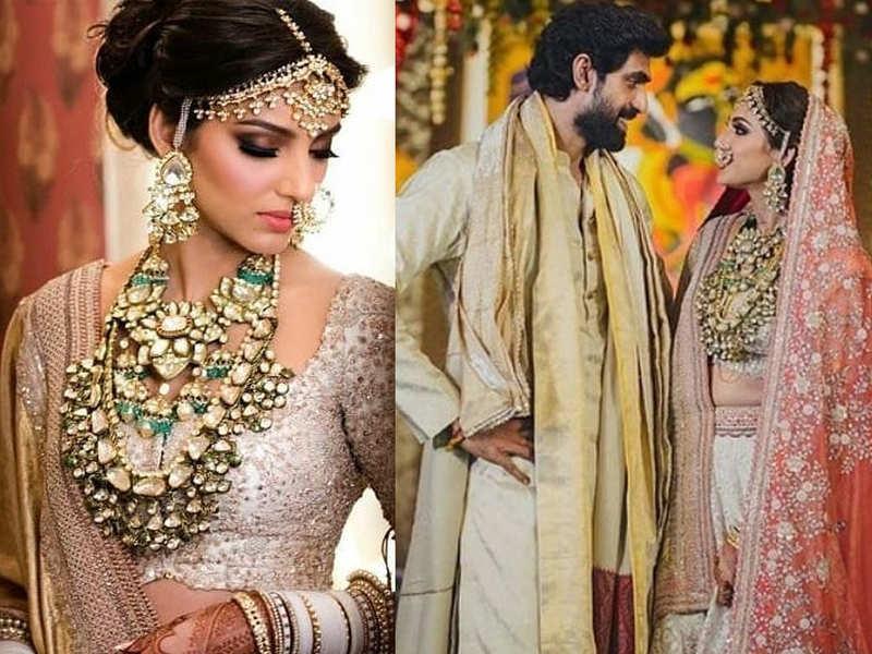 Rana Daggubati's wife Miheeka Bajaj defined royalty with her stunning bridal lehenga that took 10,000 manhours to make