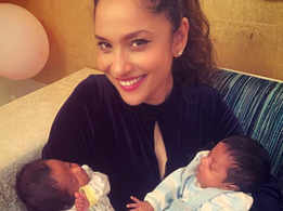 Ankita shares pictures with twin babies