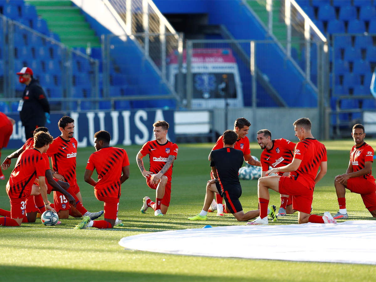 Atletico Madrid Resume Training After Rest Of Squad Test Negative For Covid 19 Football News Times Of India