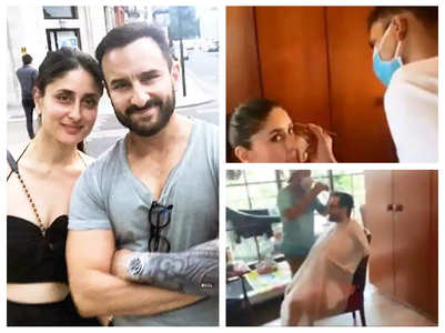 Watch: Kareena-Saif's work from home
